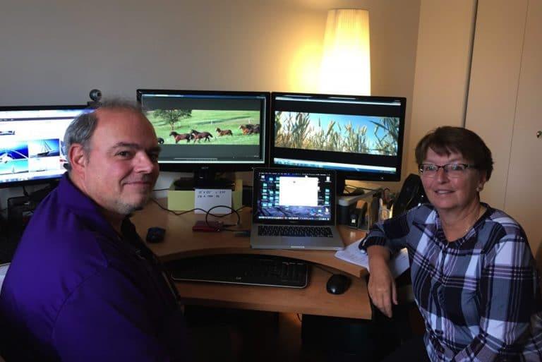 Serge Gingras, chef projectionniste et concepteur d'images, et Carole Bellavance, directrice artistique