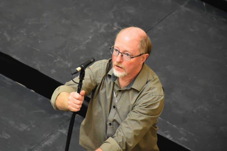 Michel Nadeau, technicien de son de Choeur En Supplément'Air, pour CESA et régisseur au Grand Théâtre de Québec